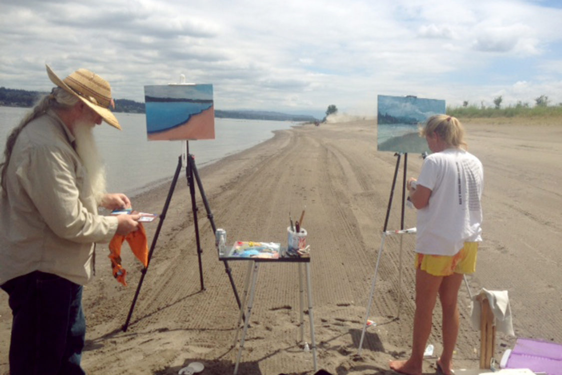 Painters at Broughton Beach