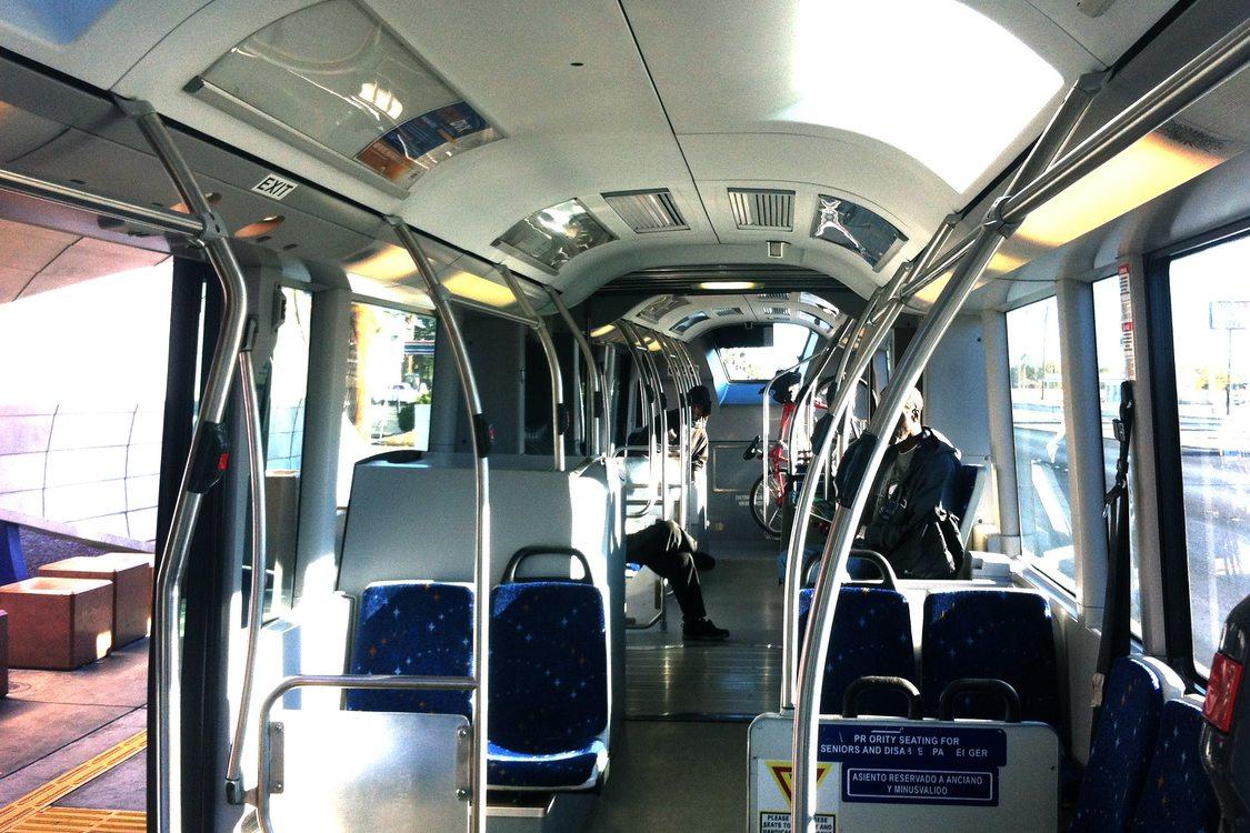 Onboard a BRT bus