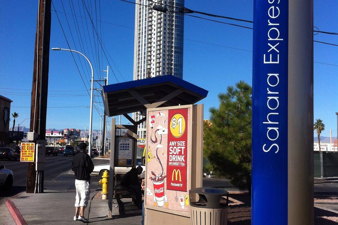 Vegas Sahara BRT stop