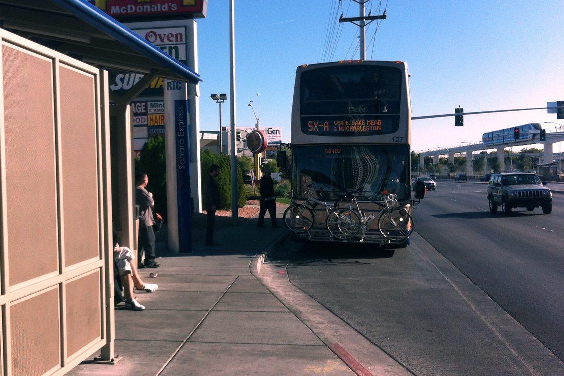 Double-decker BRT bus