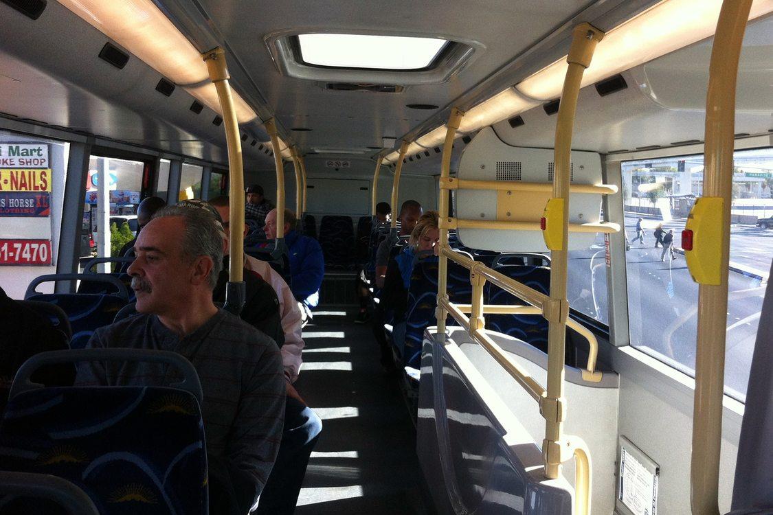 Top level of double-decker bus