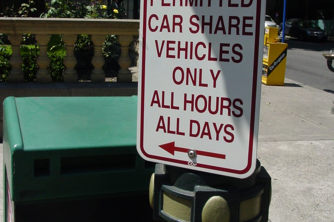 Carpool parking sign