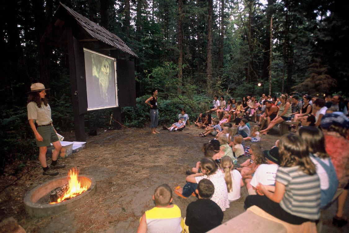 Park ranger wilderness education at Oxbow Park