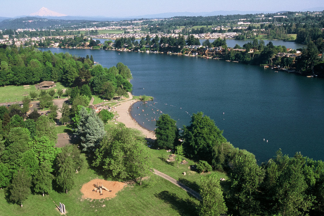 Aerial view of Blue Lake Park