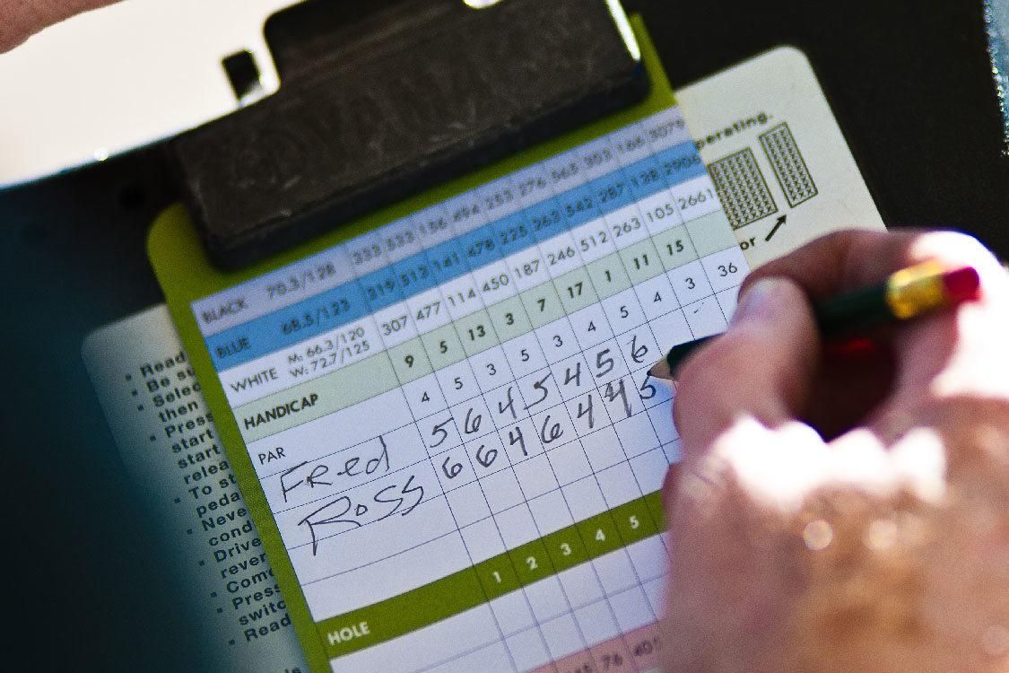 Glendoveer golf score card