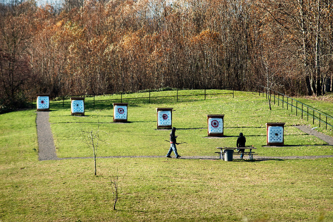 archery range at chinook landing marine park