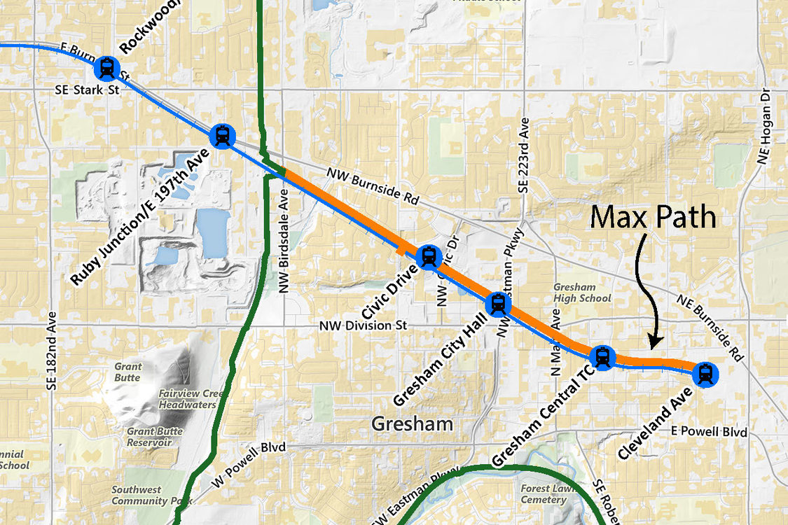 MAX Path route map
