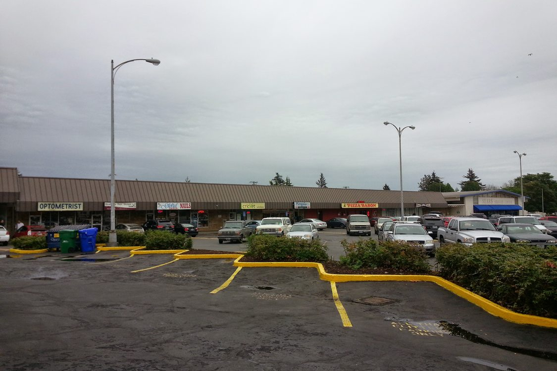Shopping center at 122nd and Division