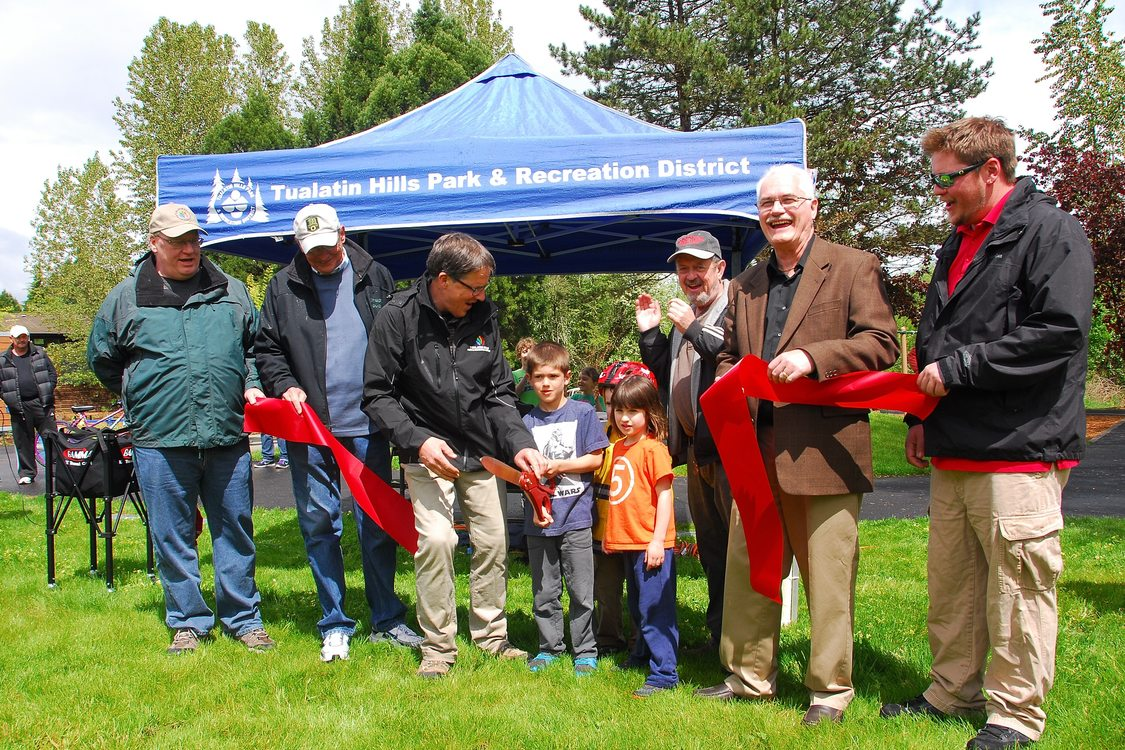 photo of councilor Craig Dirksen at a park opening ribbon cutting