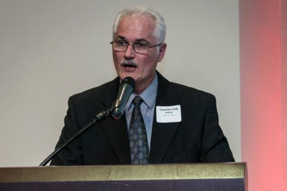 photo of councilor Craig Dirksen speaking at an event