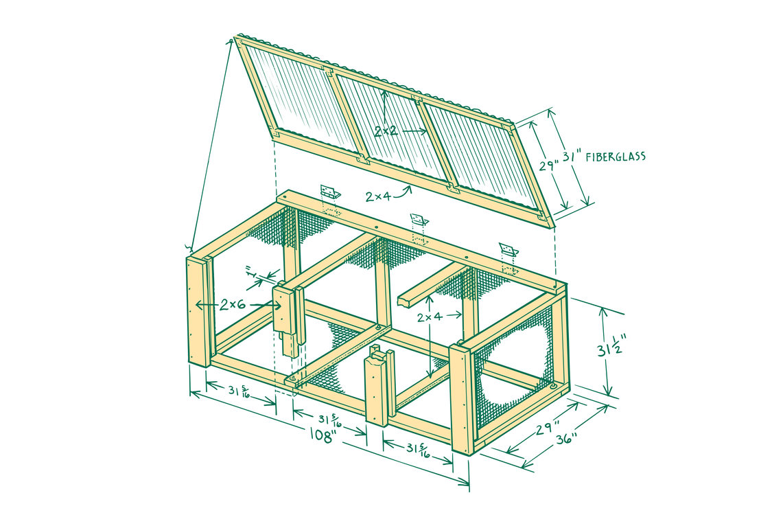 diagram of a three-bin compost system