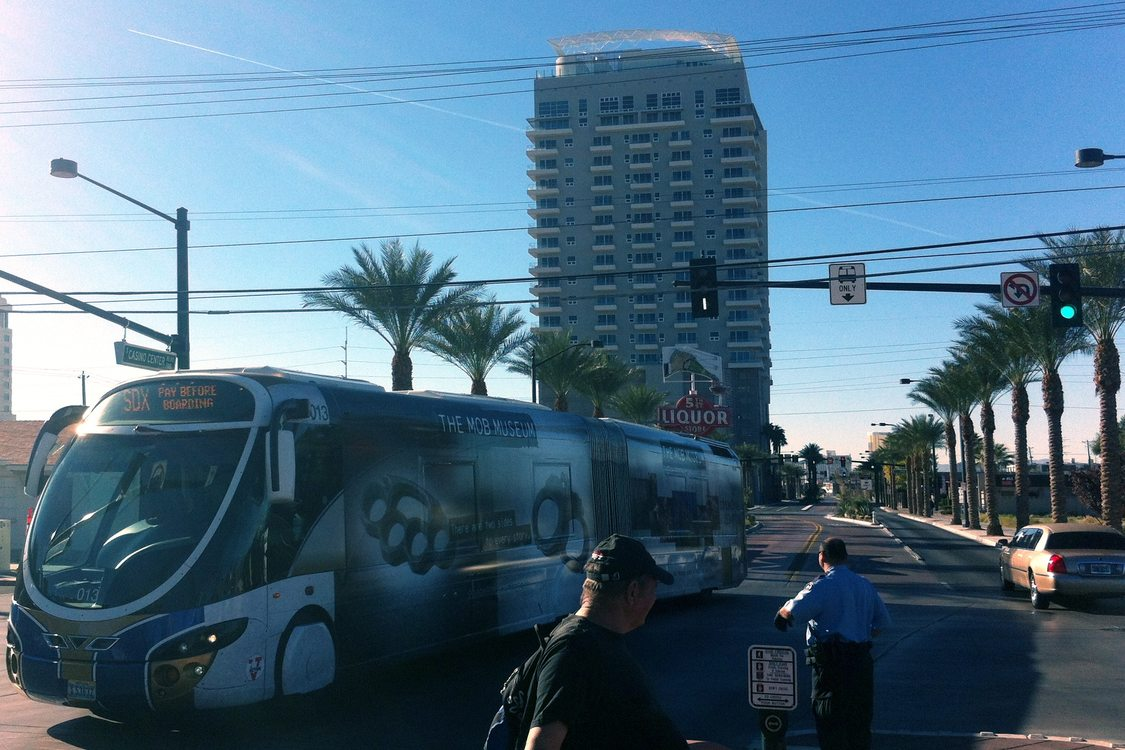 SDX BRT bus in Las Vegas