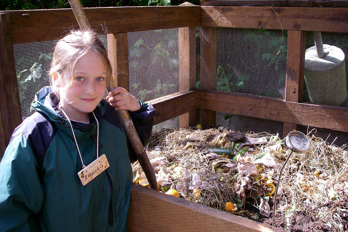 photo of student at outdoor school