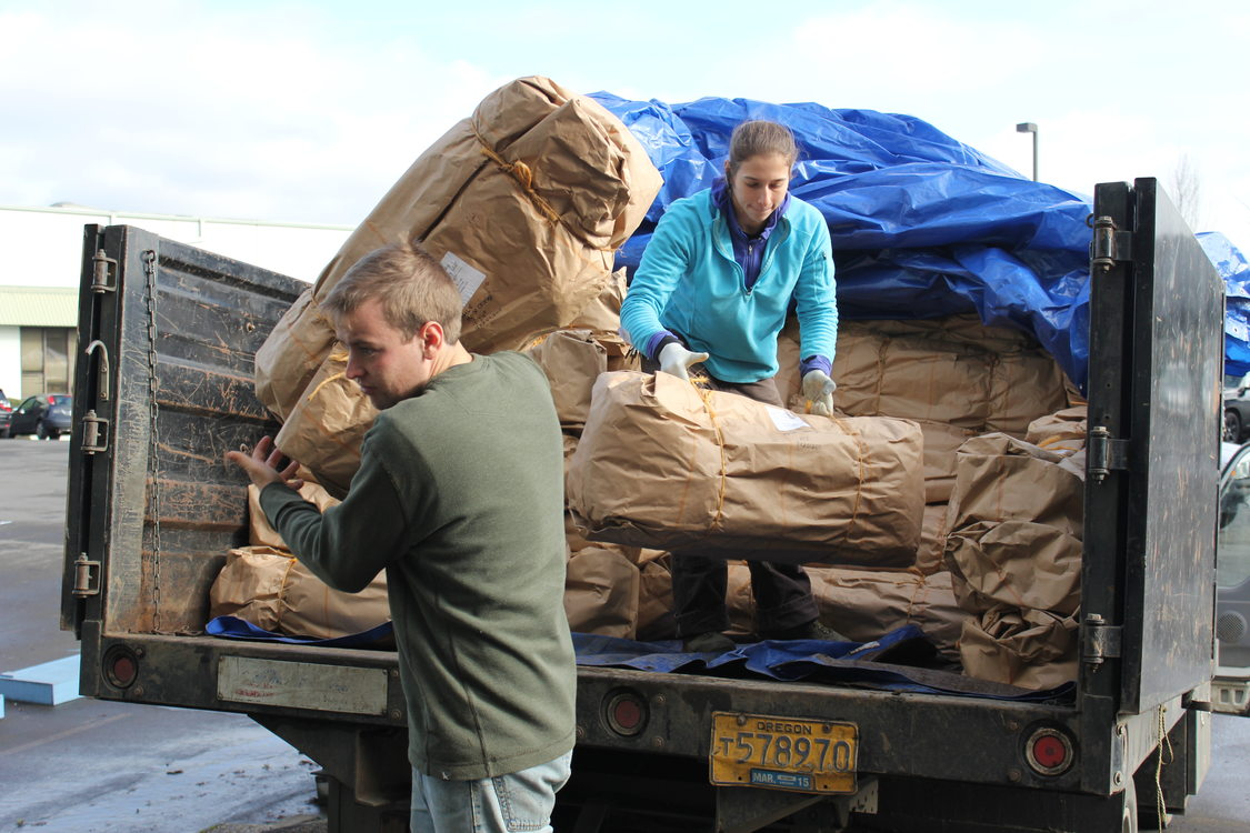 photo of Scholls Valley Native Nursery truck unloading