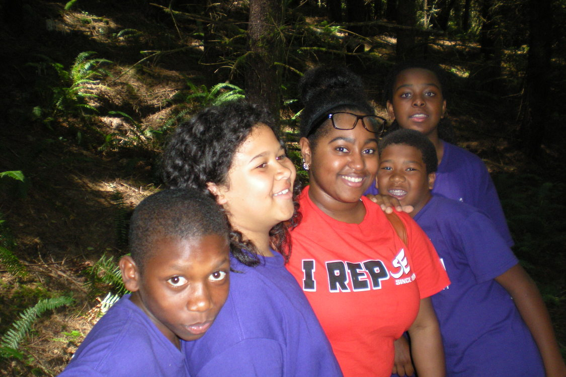 photo of Self Enhancement, Inc. students exploring nature