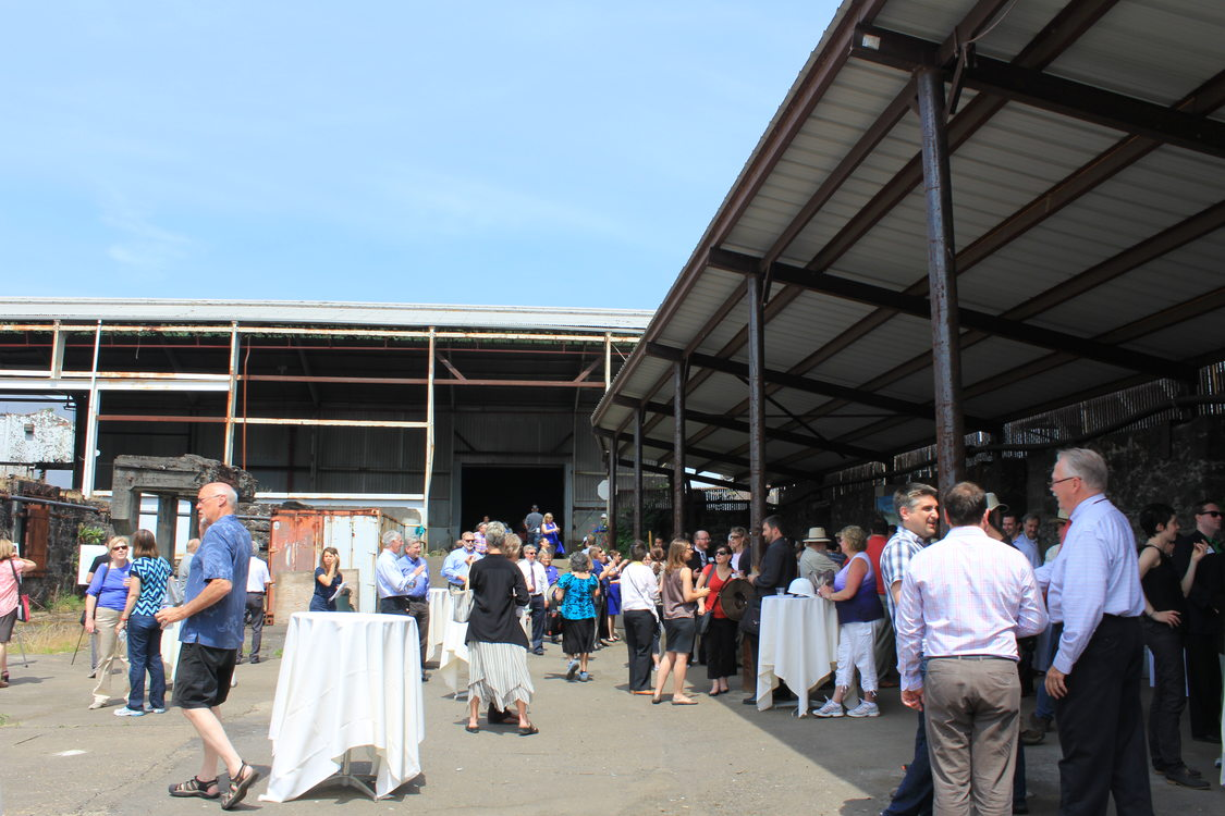 photo of Willamette Falls reception