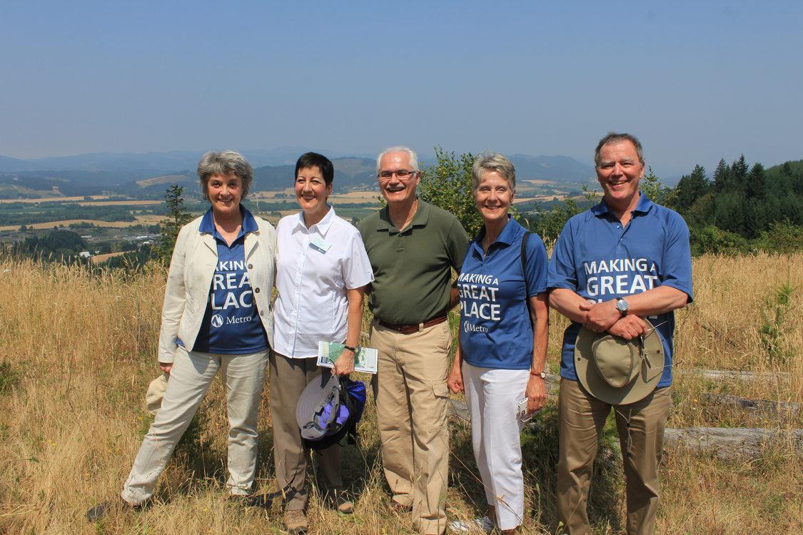 Metro councilors at Chehalem Ridge