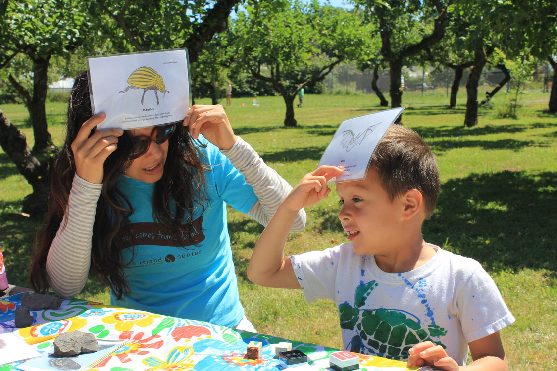 photo of guessing game at Pollination Celebration