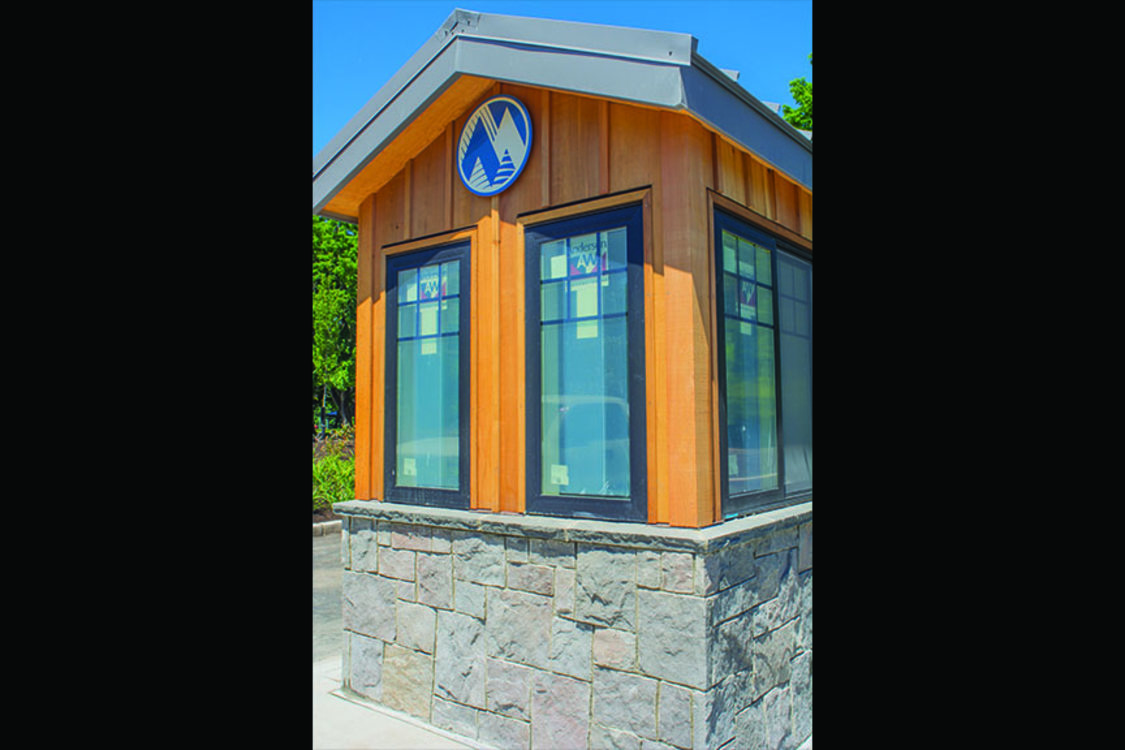 photo of Blue Lake entry booth