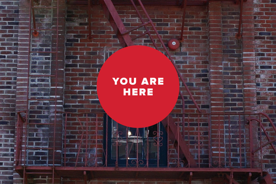You are here brick facade
