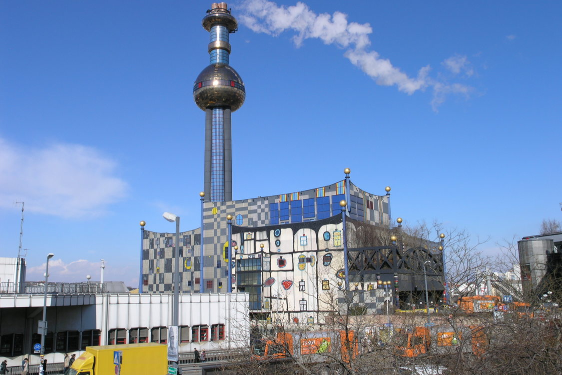 photo of the Spittelau waste plant in Vienna