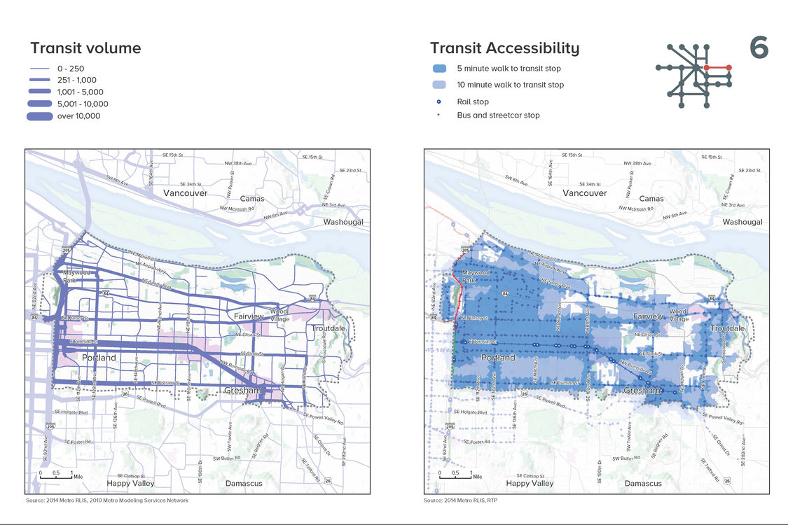 page from the mobility corridors atlas
