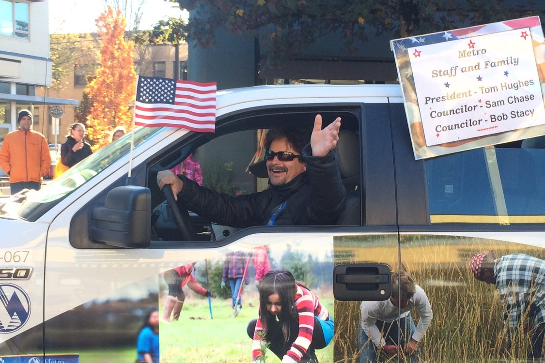 photo of Jim Caudell at Veterans Day parade