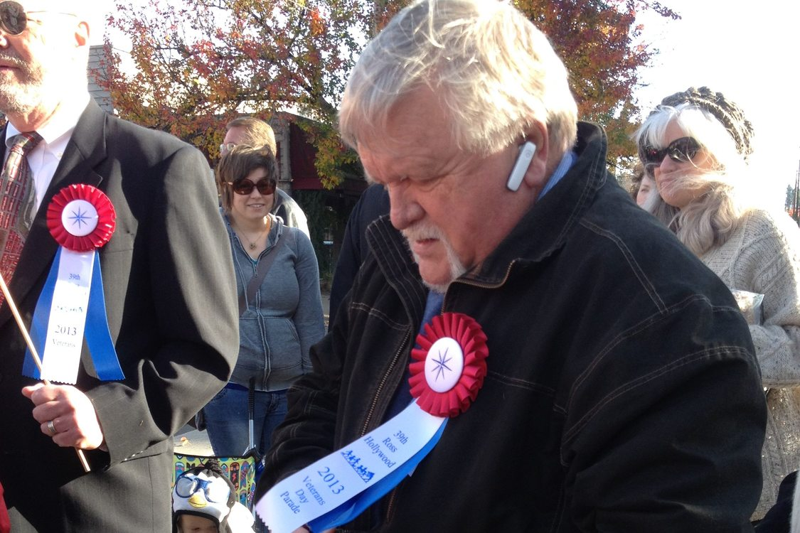 photo of Metro President Tom Hughes at Veterans Day Parade