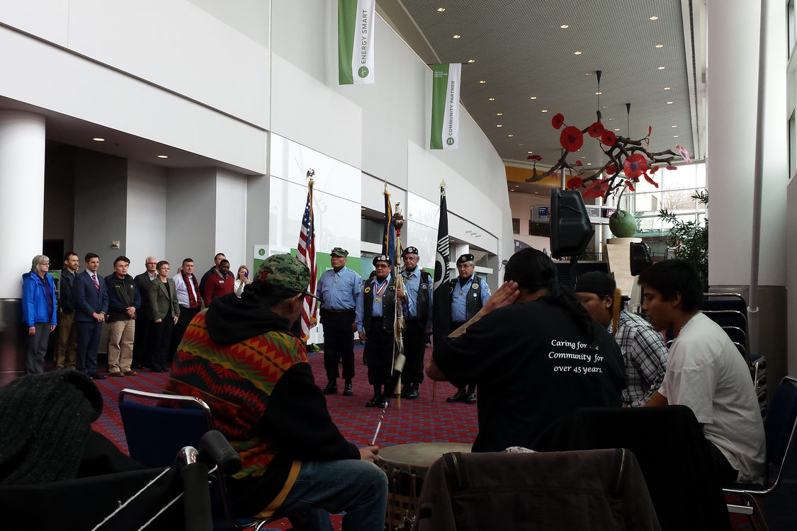 Color guard at Vets Day event