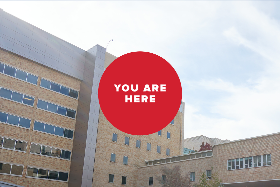 you are here -- hospital