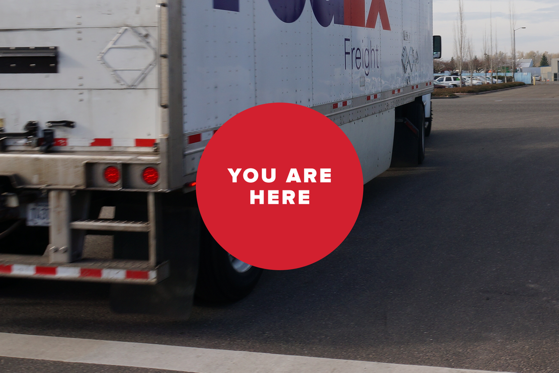 You are here -- truck