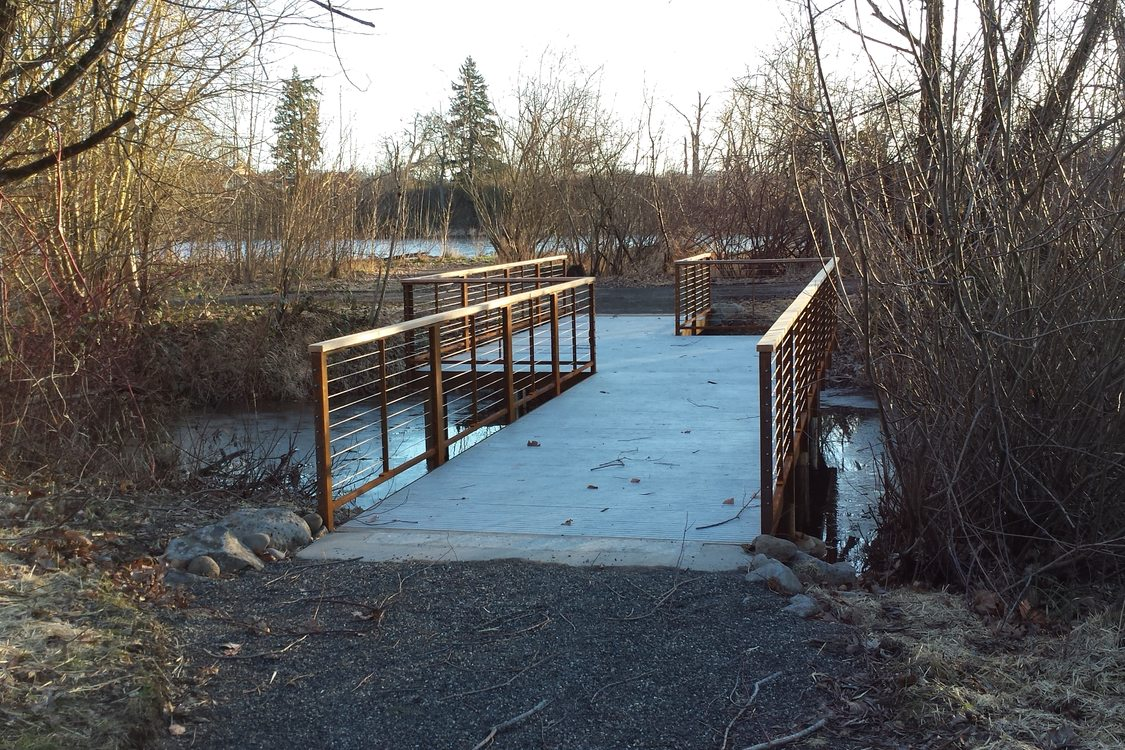 photo of new Blue Lake wetlands platform