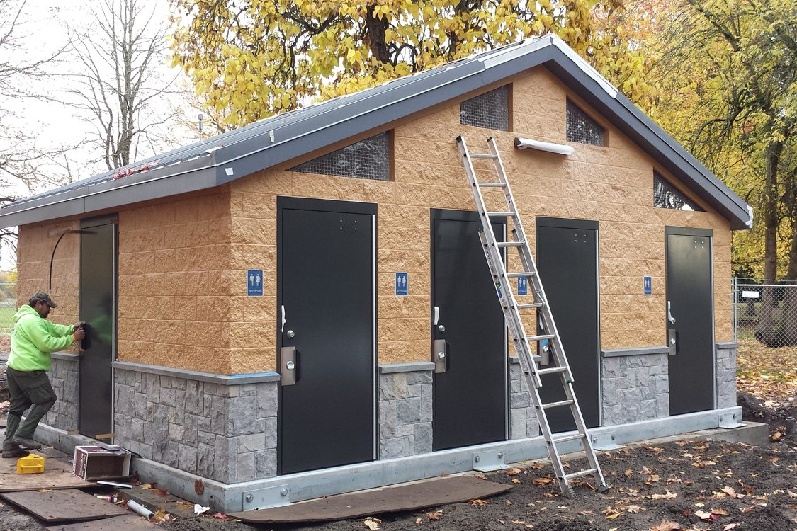 photo of new restroom at Blue Lake Regional Park