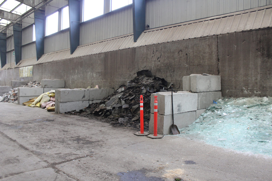 Part of the recycling area at Metro Central Transfer Station.
