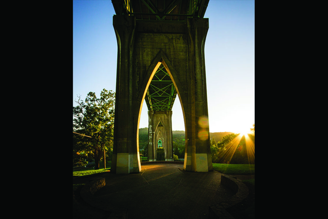 photo of St. Johns Bridge at Cathedral Park
