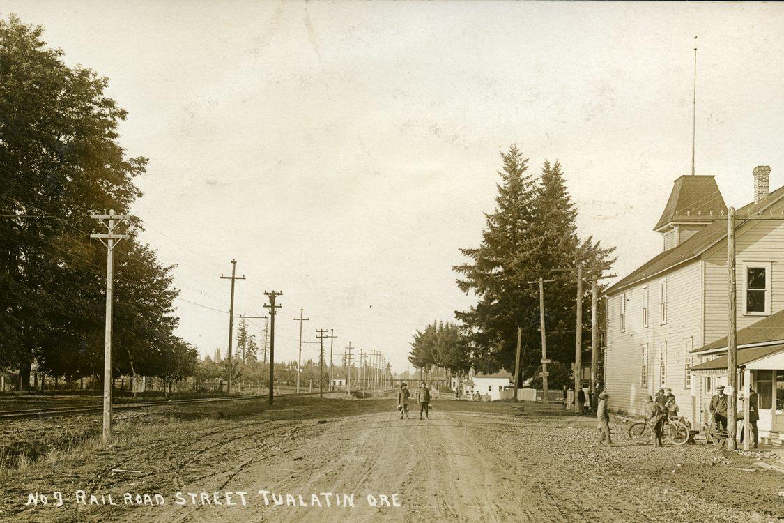 Tualatin Railroad Ave vintage 1900s