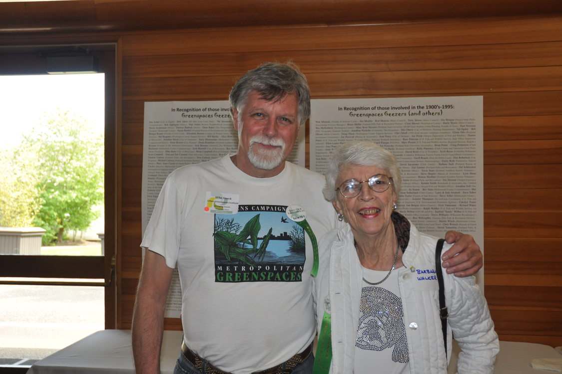 photo of Mike Houck and Barbara Walker