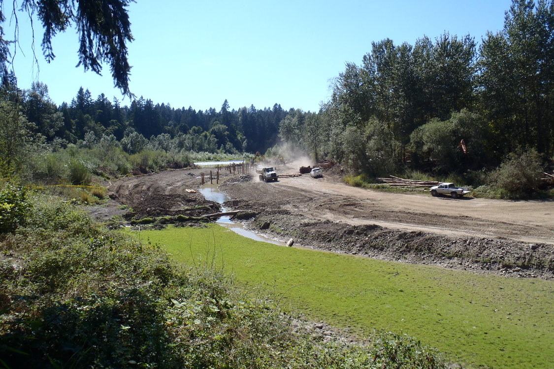 photo of restoration work at River Island north