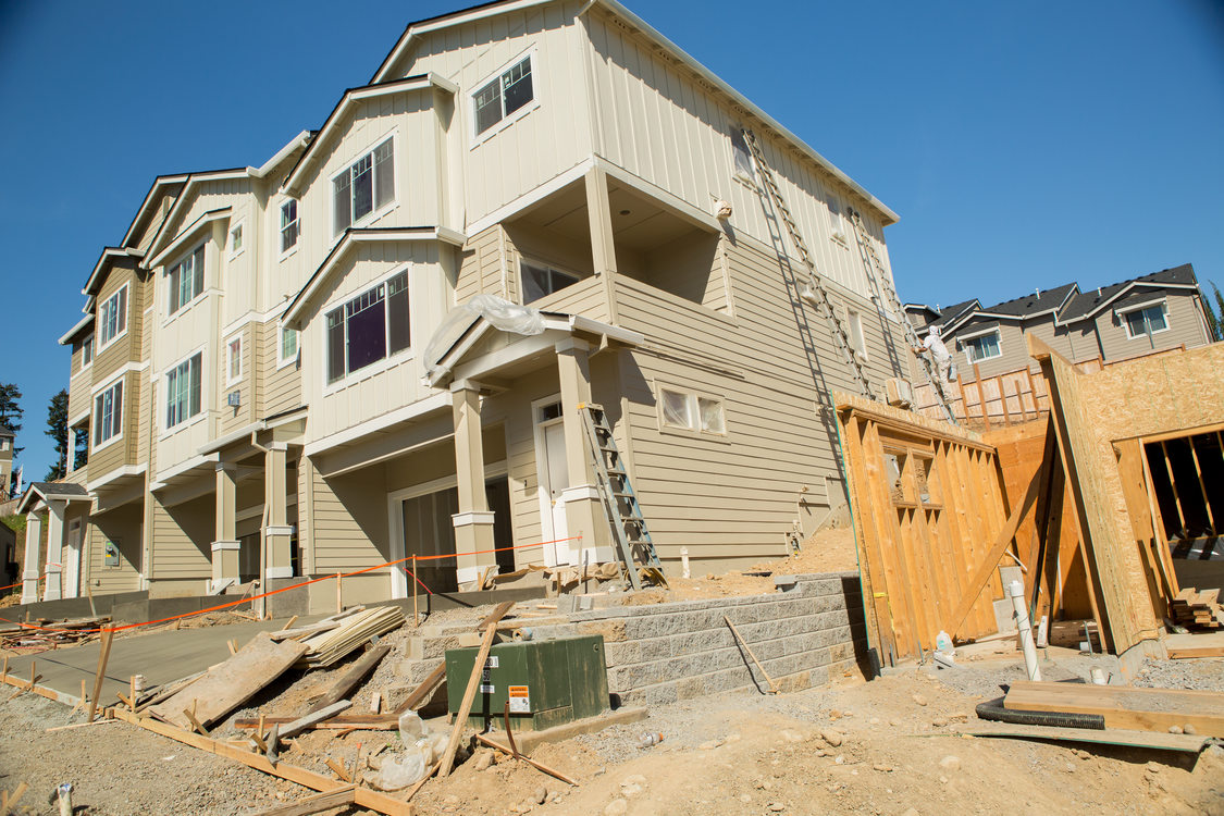 New attached homes under construction in Happy Valley