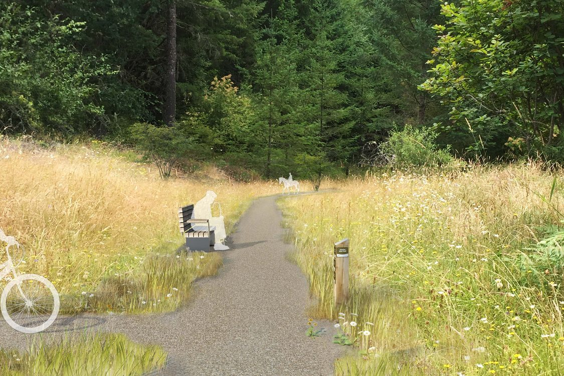 rendering of Chehalem Ridge trails