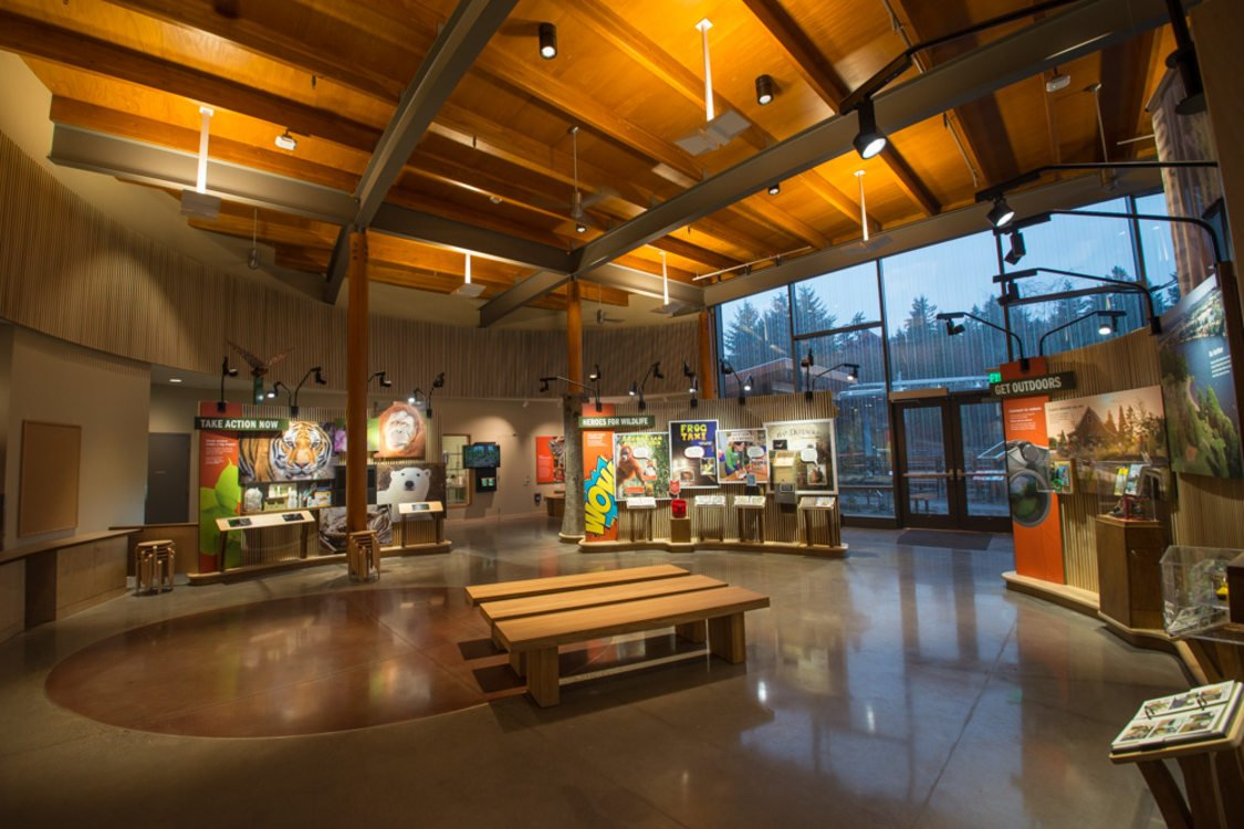 interior space at the Oregon Zoo Education Center