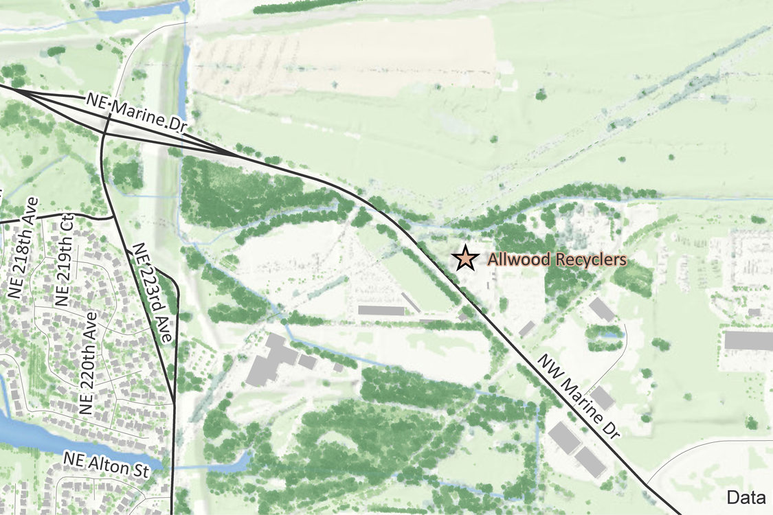 map of Allwood Recyclers