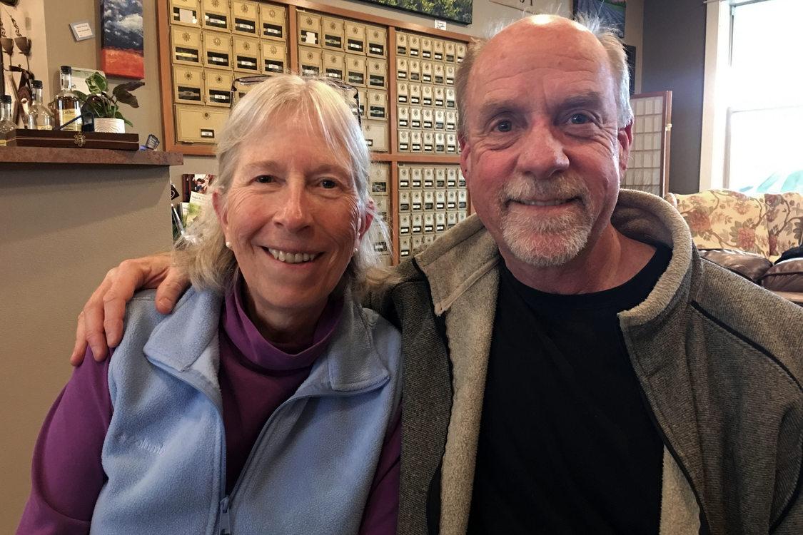 Roberta Schwarz and Russ Axelrod