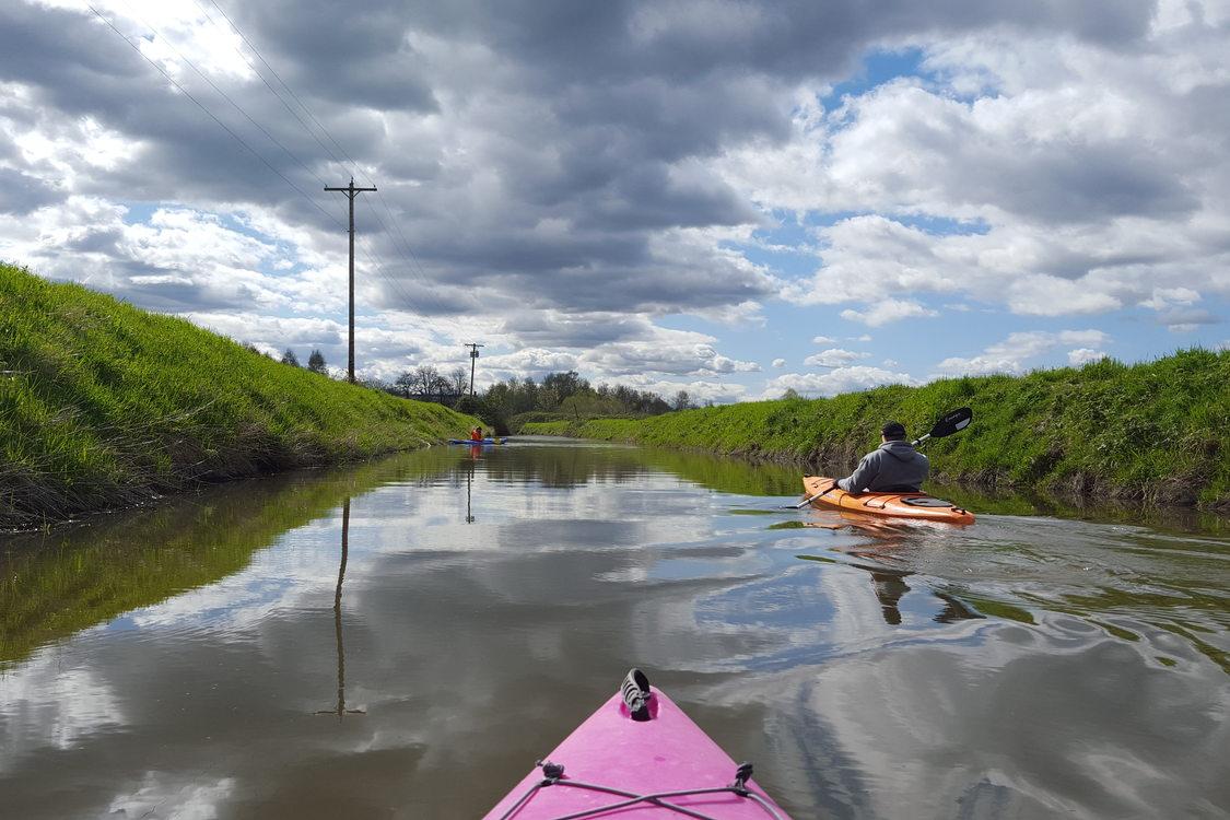 photo of kayaking down Columbia Slough