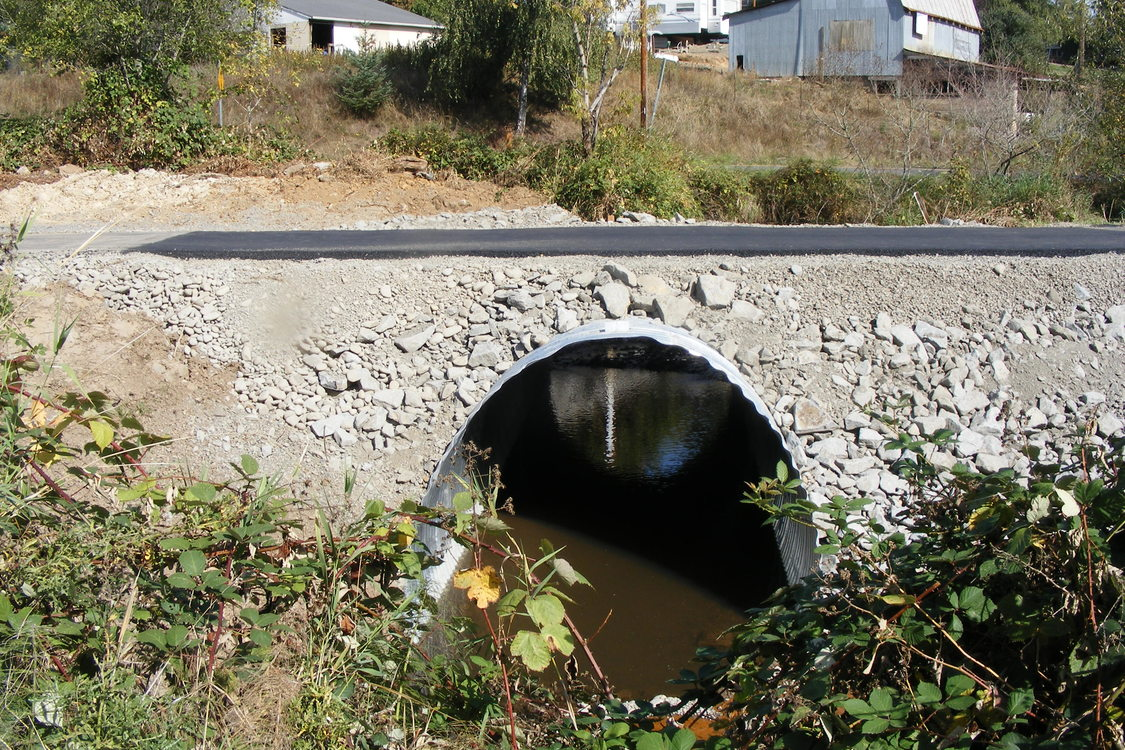 photo of Badger Creek culvert