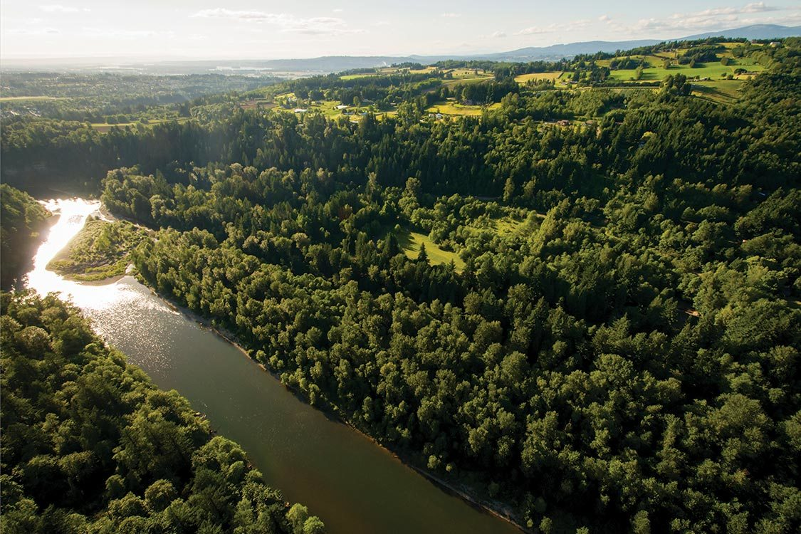 aerial photo of Oxbow Regional Park