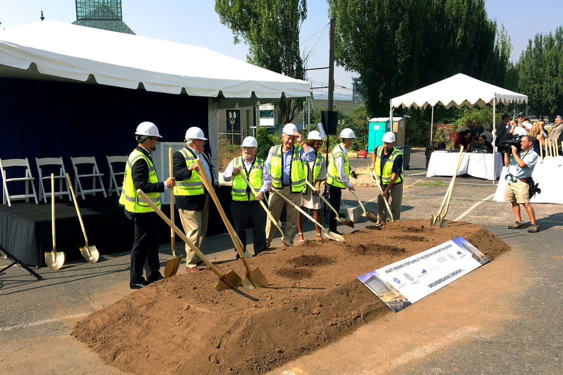 Oregon Convention Center hotel groundbreaking