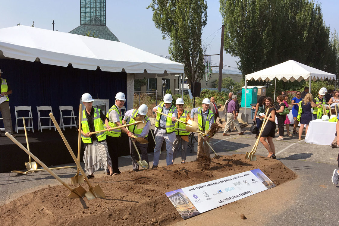 Metro Council at Oregon Convention Center Hotel groundbreaking