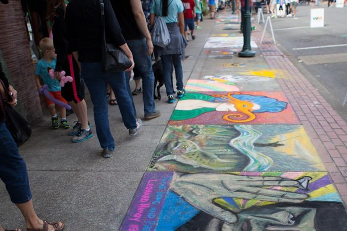 Annual chalk art festival in Forest Grove
