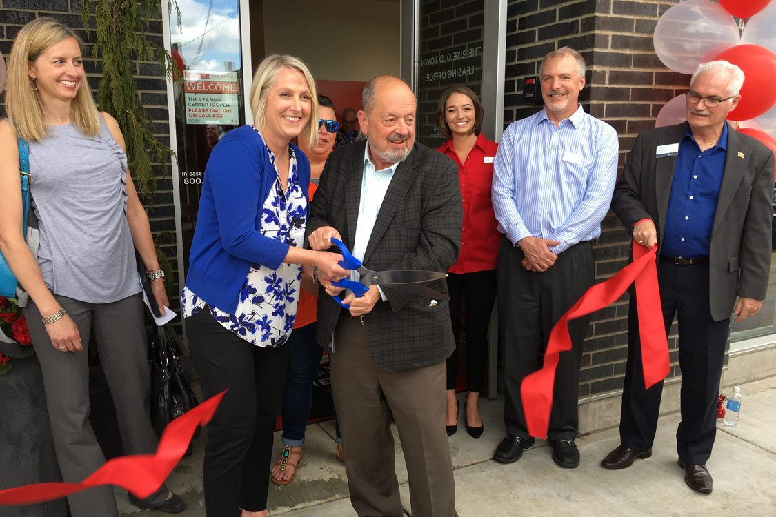 Ribbon-cutting ceremony for The Rise at Old Town